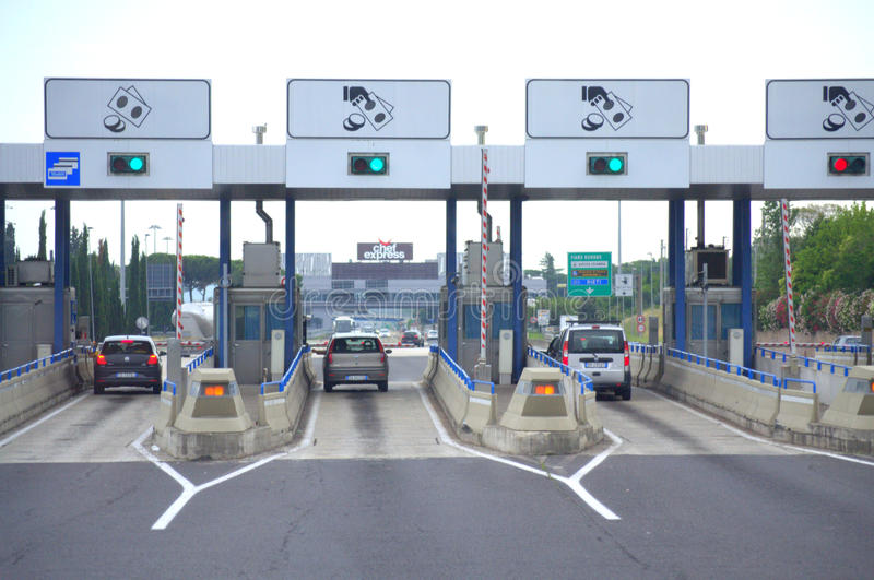 Toll road Italy royalty free stock photo