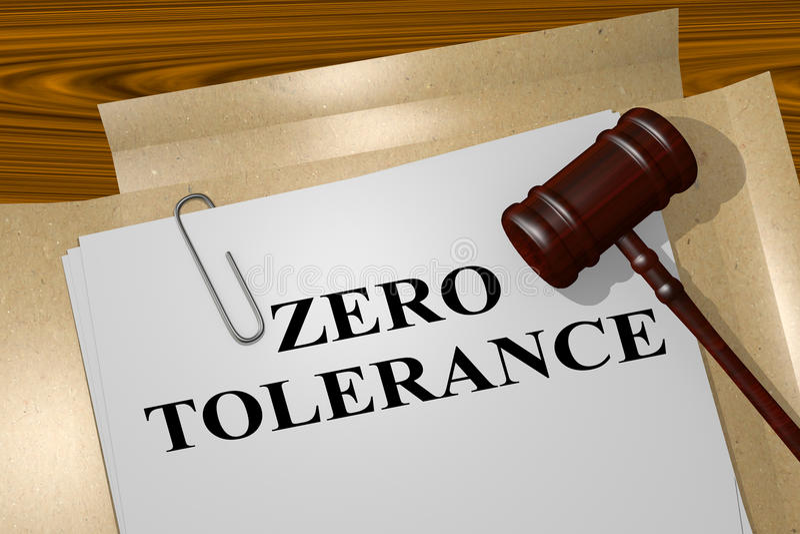 Tolleranza zero - concetto legale royalty illustrazione gratis