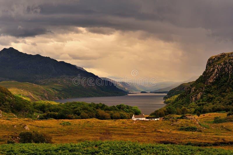 Tollie, loch Maree, altopiani scozzesi fotografie stock libere da diritti