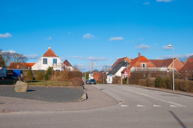Tollose镇在丹麦 库存照片