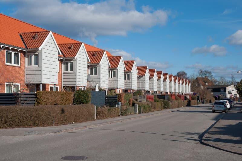 Tollose镇在丹麦 免版税库存图片