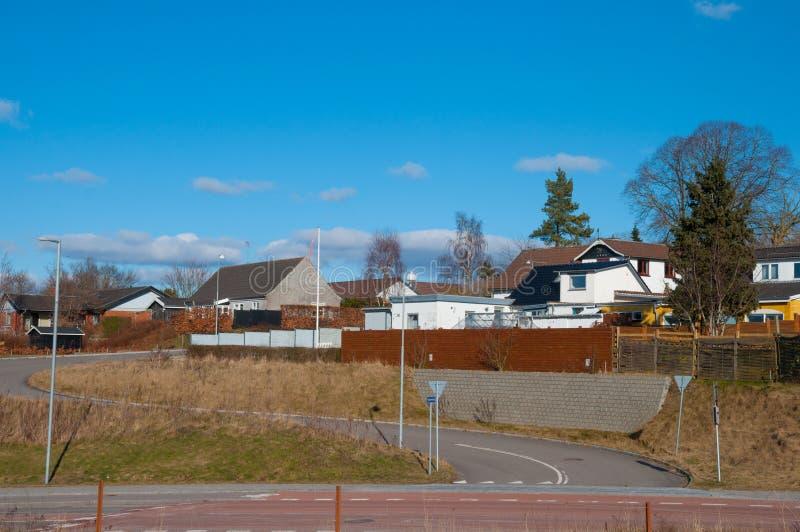 Tollose镇在丹麦 免版税图库摄影
