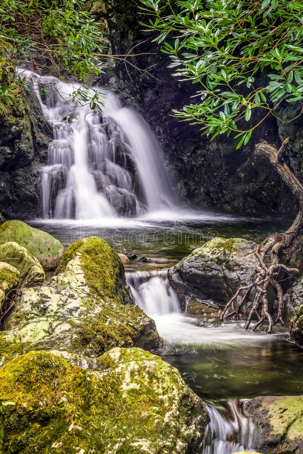 Free Tollymore Forest Natural Park Northern Ireland Waterfall Long Exposure Light Stock Photo - 159266890