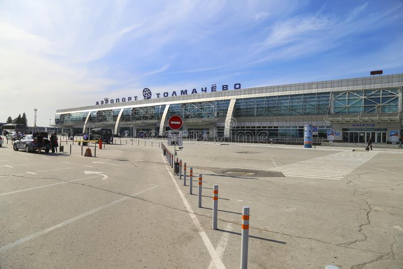 Tolmachevo Airport in Novosibirsk, Russia stock photo