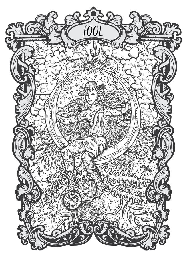 tolo Major Arcana Tarot Card ilustração royalty free