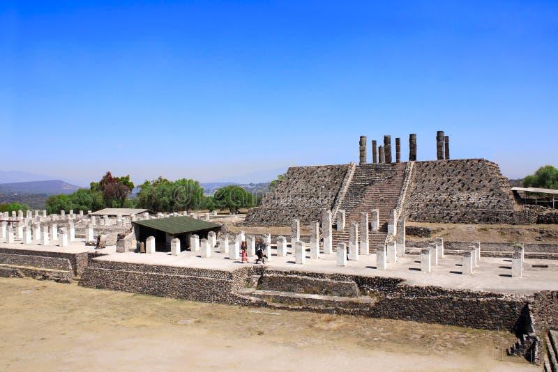 Toltec Atlantes, Tula de Allende, estado do fidalgo, México fotos de stock