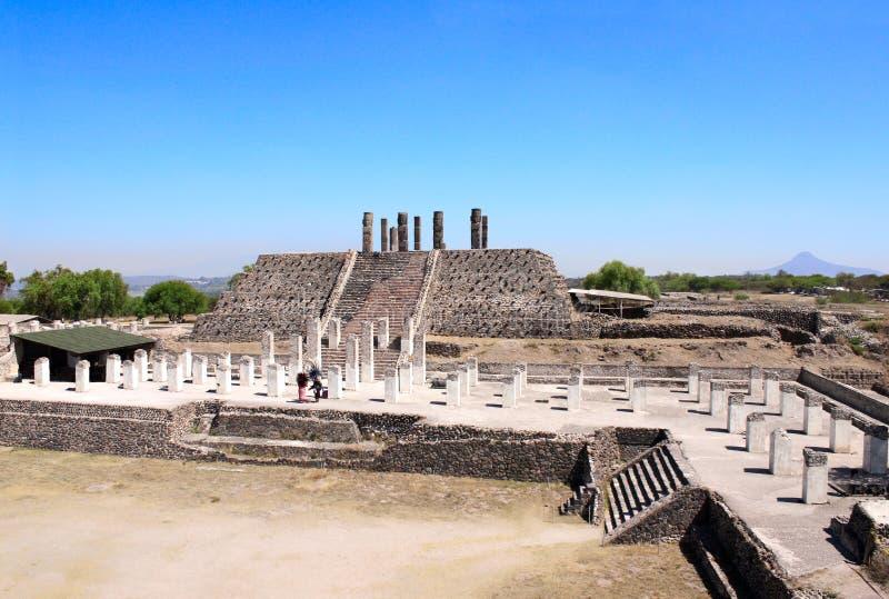 Toltec Atlantes, Tula de Allende, estado do fidalgo, M?xico fotos de stock