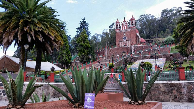 Tolucakerk stock afbeelding