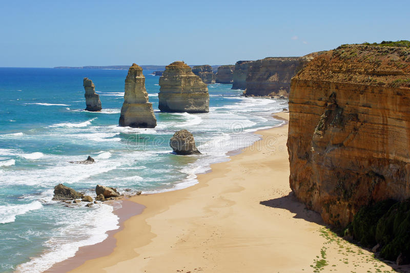 Tolv apostlar, stor havväg, Australien royaltyfria foton