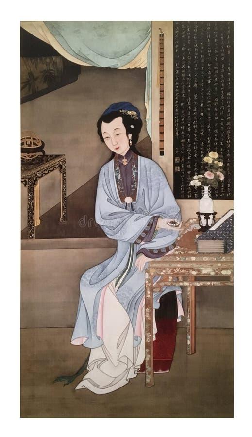 Tolv dam Portraits, berömd kinesisk målning royaltyfri fotografi