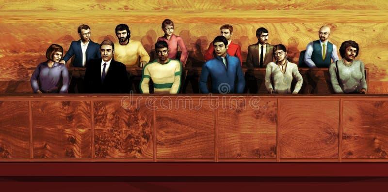 Juryn stock illustrationer