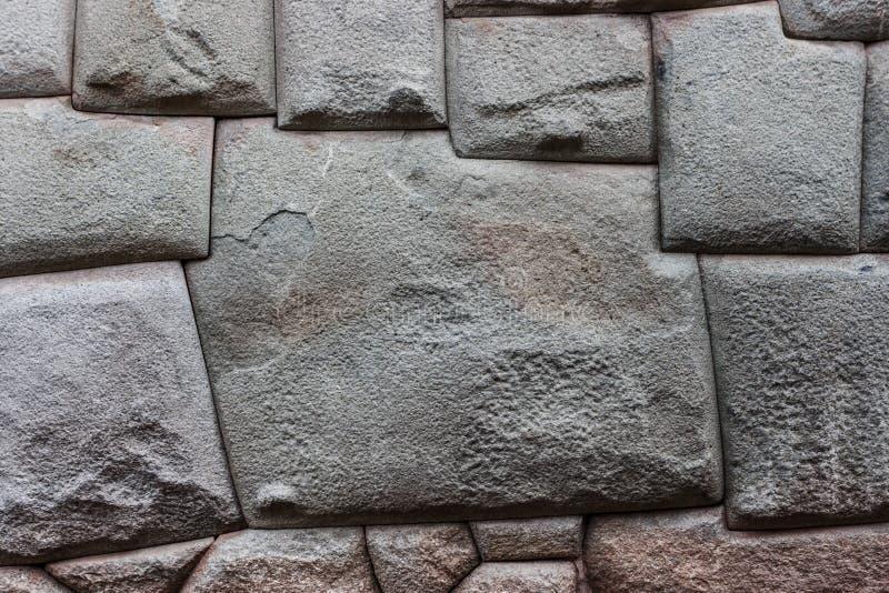 Tolvna sid stenen, Cusco, Peru royaltyfri foto