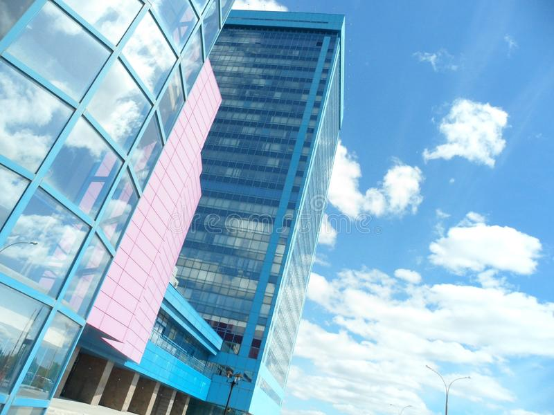 Tolyatti. Building of glass in Tolyatti royalty free stock images