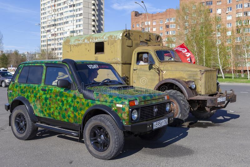 TOLYATTI, RUSSIA, MAY 09, 2018: holiday didicated to Victory day. royalty free stock photos