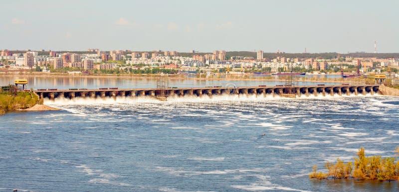 Tolyatti. Zhigulevskaya hydroelectric power station. Zhigulevskaya HPP is a hydroelectric power station on the Volga River in the Samara Region, in the city of royalty free stock photo