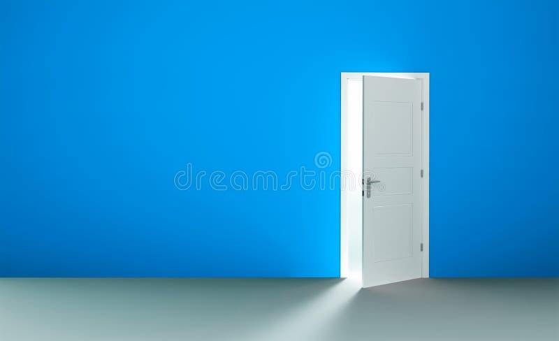 tom öppen lokal för dörr royaltyfri illustrationer