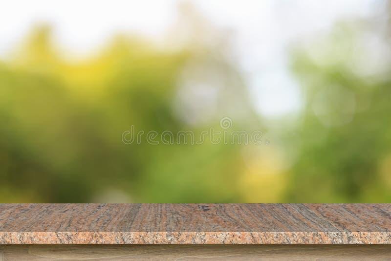 Download Tom överkant Av Den Granitstentabellen Eller Räknaren På Suddig Gräsplanbac Fotografering för Bildbyråer - Bild av marmor, produkt: 76704029