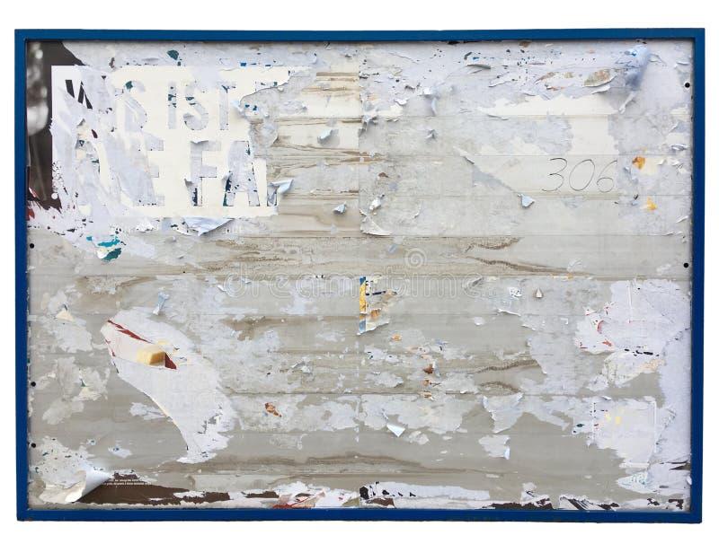 Tom affischtavla som isoleras på vit bakgrund royaltyfri fotografi