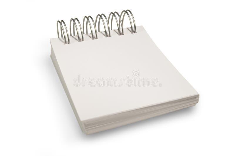 tom anteckningsbok arkivbild
