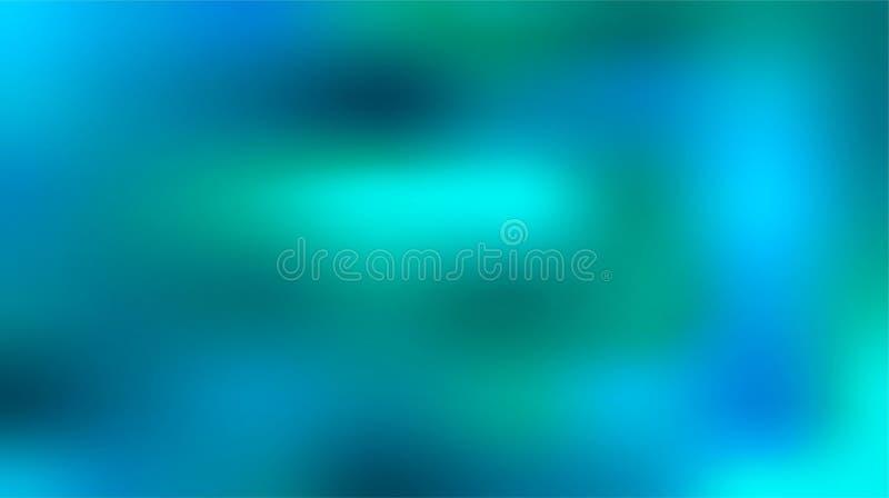 Tom azul ilustração abstrata borrada colorida do fundo ilustração stock
