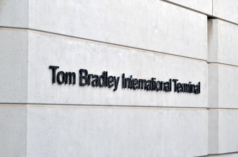 Tom Bradley International Airport photographie stock libre de droits