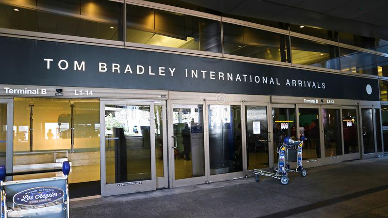 Tom Bradley International Terminal photographie stock
