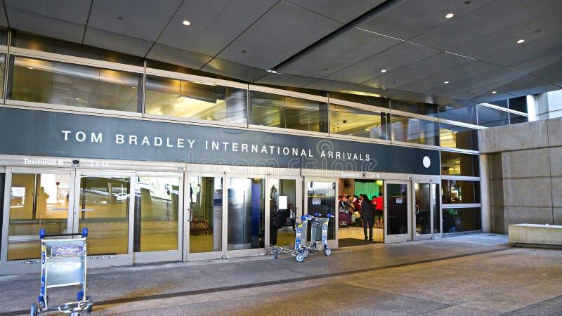 Tom Bradley International Terminal fotos de archivo