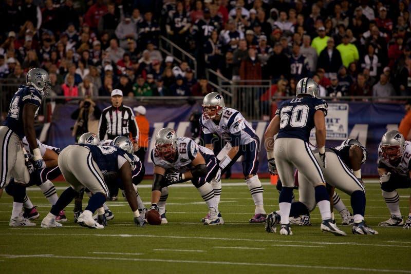 Tom Brady prenant la rupture   photographie stock