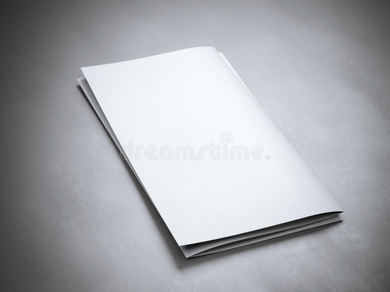 Tom broschyr för vit royaltyfri bild
