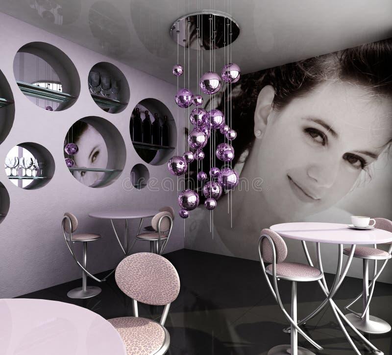 tom cafe royaltyfri fotografi