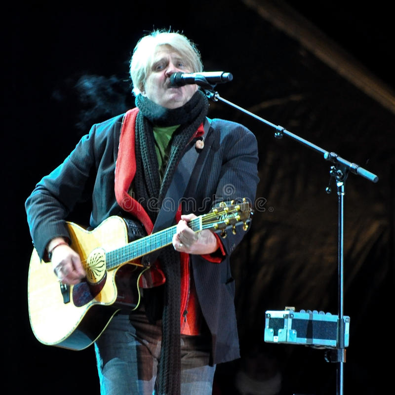 Tom Cochrane. Performs at the Olympic Torch Relay ceremony in Ottawa, December 12, 2009. The event was in preparation for the 2010 Winter Olympics which will be royalty free stock image
