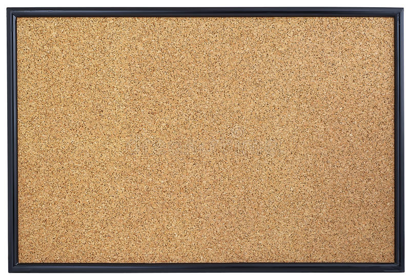 Tom corkboard. royaltyfri bild