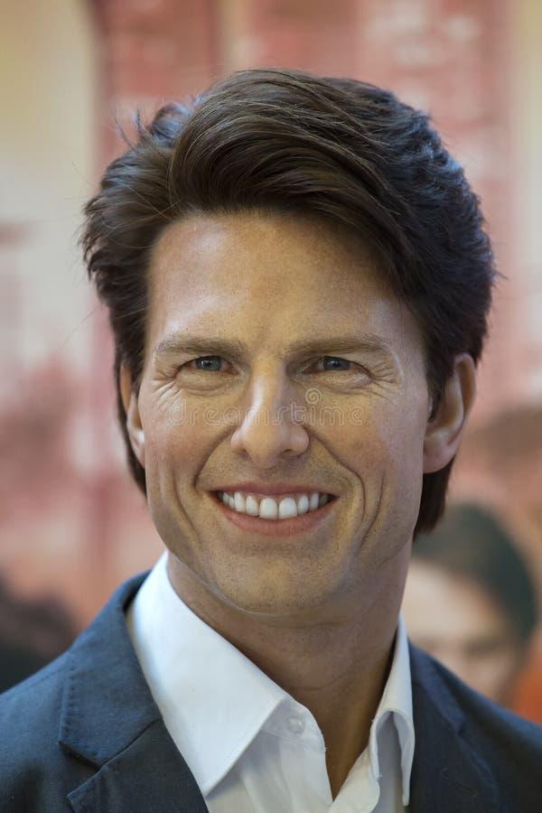 Tom Cruise, de Amerikaanse acteur is het museum van de wascijfers Mevrouw Tussauds in Bangkok, Thailand stock foto's