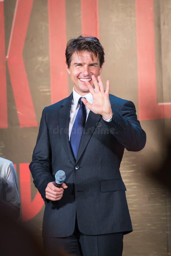Tom Cruise - de Première van 'Rand van Morgen' Japan royalty-vrije stock afbeeldingen