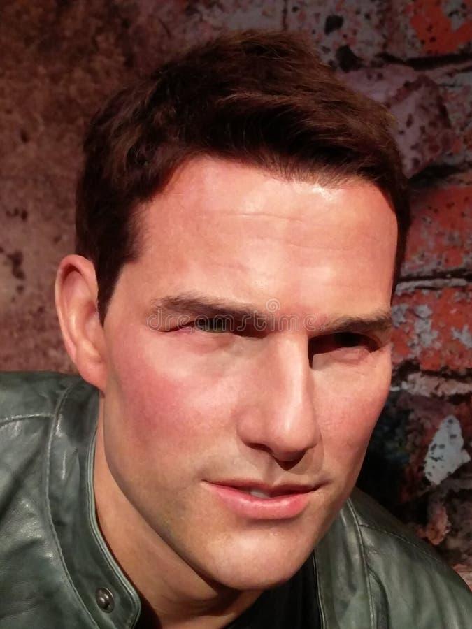 Tom Cruise på madamen Tussauds arkivbild