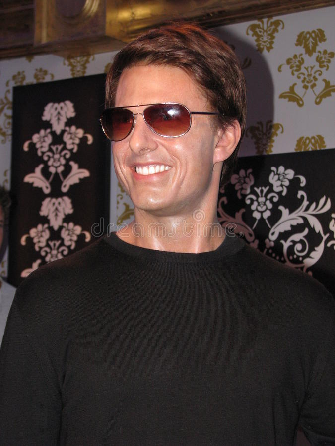 Tom Cruise - wax statue royalty free stock image