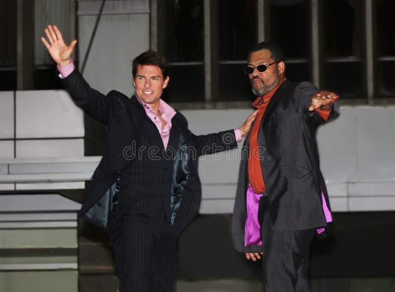 Tom Cruise y Laurence Fishburne imagenes de archivo