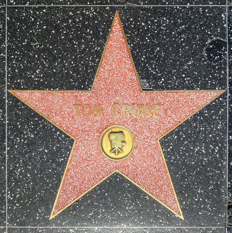 Tom Cruises-ster op Hollywood-Gang van Bekendheid royalty-vrije stock afbeelding