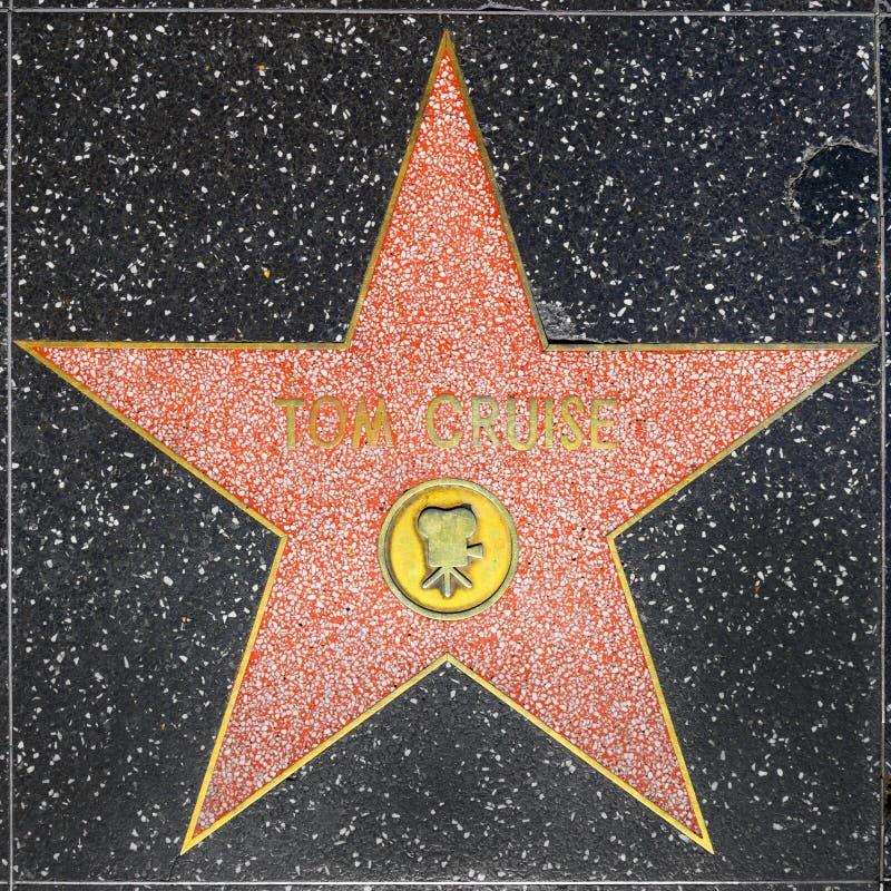 Tom Cruises-ster op Hollywood-Gang van Bekendheid stock fotografie