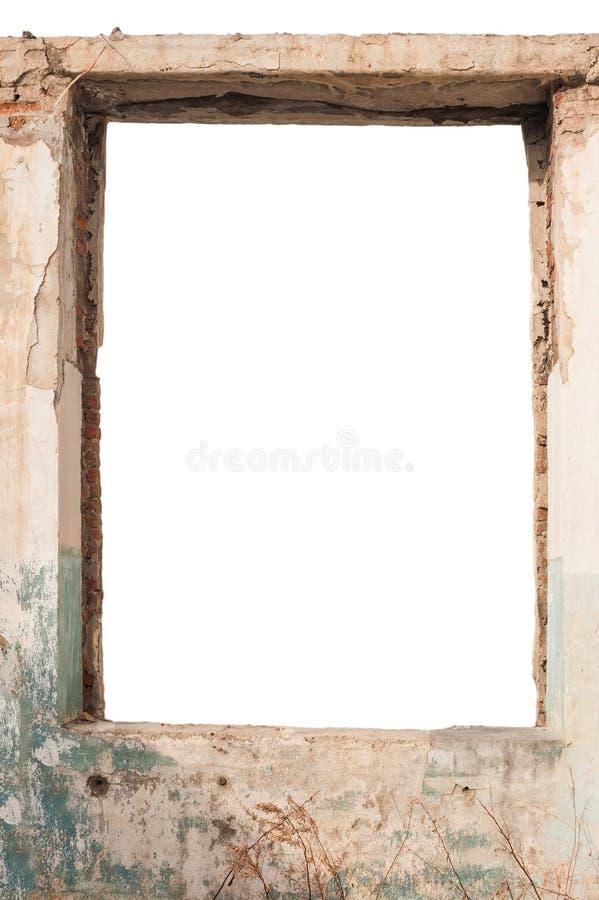 Tom fönsteröppning arkivbild