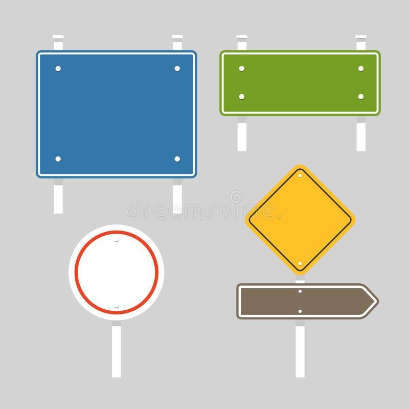 Tom för informationsbräden om metall uppsättning stock illustrationer