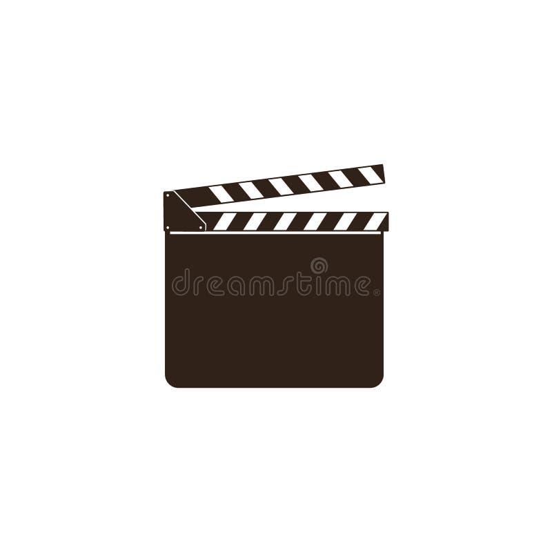 Tom filmclapper, panelbräda, svart öppen clapperboard och att kritisera brädet för filmbransch royaltyfri illustrationer
