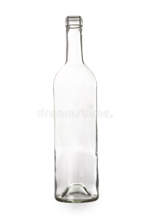 tom flaska arkivbild