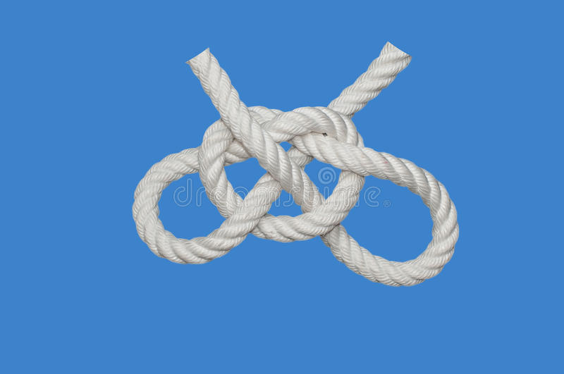 Tom Fool Knot. Tom Fool´s Knot is sometimes considered a handcuff knot but somewhat inferior royalty free stock photos