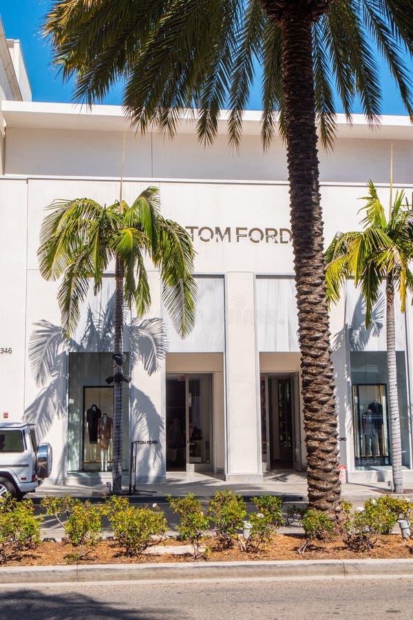 Tom Ford lager på Rodeo Drive i Beverly Hills - KALIFORNIEN, USA - MARS 18, 2019 royaltyfria foton