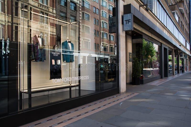 Tom Ford-winkel in de straat van Londen, Engeland royalty-vrije stock afbeelding