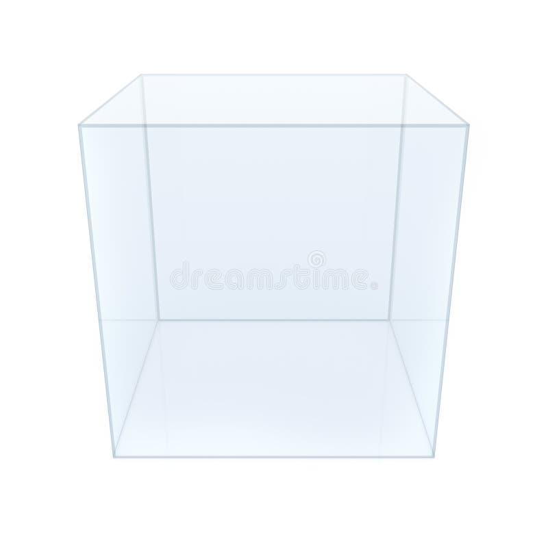 Tom glass kub royaltyfri fotografi