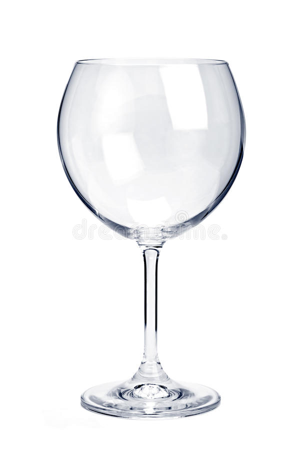 tom glass rött vin royaltyfria foton