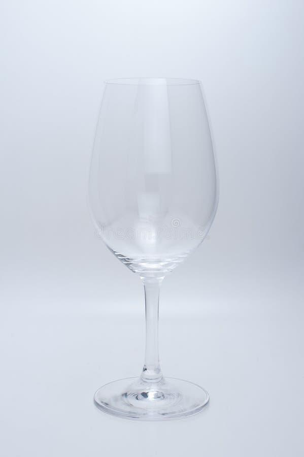 tom glass vit wine för bakgrund arkivfoto