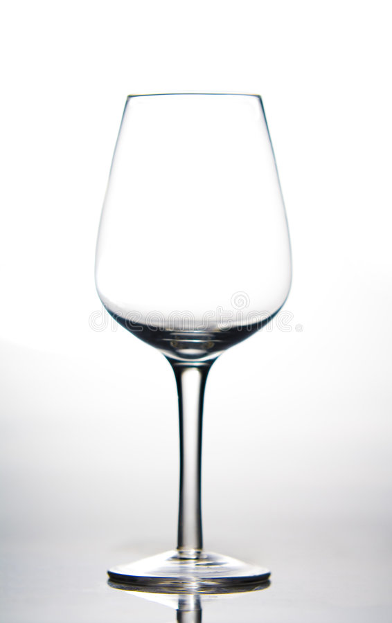 tom glass wine royaltyfri bild